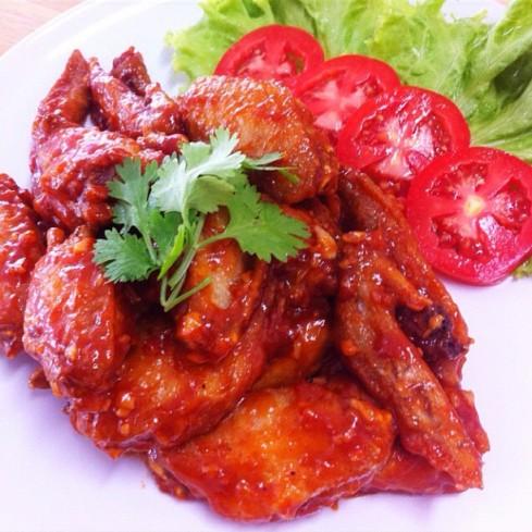 ปีกไก่เหล้าแดง #JMcuisine #CreamCuisine #food #cooking #จัดเลี้ยง
