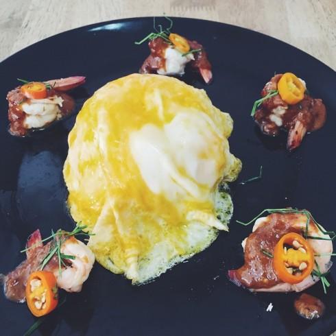 24.6.58 dreamiewonderland ข้าวไข่ข้นซอสต้มยำกุ้งน้ำข้น อร่อยจัง #JMcuisine