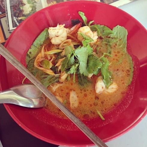 27.6.58 i_am_nu_mam ก๋วยเตี๋ยวต้มยำกุ้งน้ำข้น #เจ๊กเม้ง #JM cuisine in Foursquare