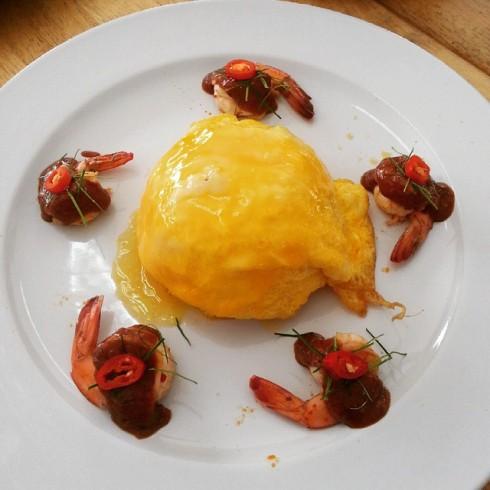 21.7.58 emmysland ข้าวไข่ข้นต้มยำกุ้งน้ำข้น เมนูแนะนำของร้าน หน้าตาดี รสชาติอร่อย #jmcuisine #eggproject