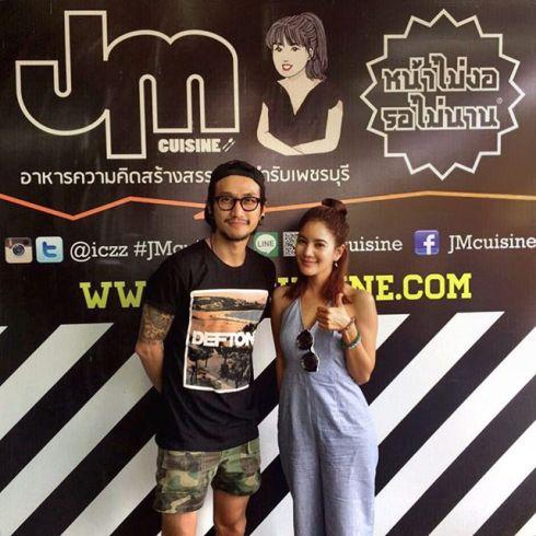 1.10.58 @artiwara @rachwinwong ขอบคุณมากๆครับพี่ ที่ผ่านมาเพชรบุรีแล้วคิดถึงกัน #JMcuisine #หน้าไม่งอรอไม่นาน #เพชรบุรี