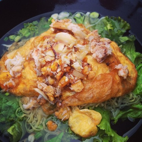12.11.58 nongporpor2012 บะหมี่ไข่เจียวปู #น่ากินจุงเบย