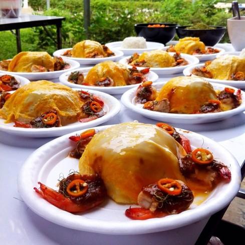 ข้าวไข่ข้นซอสต้มยำกุ้งน้ำข้น #JMcuisine เพชรบุรี #จัดเลี้ยงนอกสถานที่
